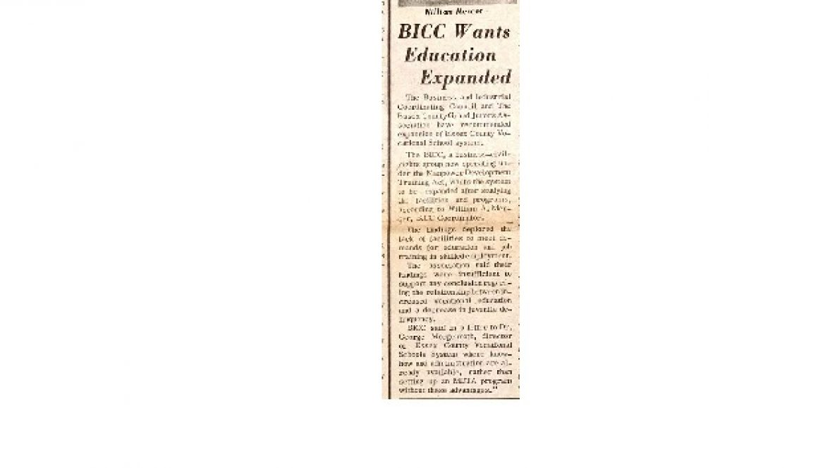 thumbnail of BICC Wants Education Expanded (Advance, Jan 6, 1966)
