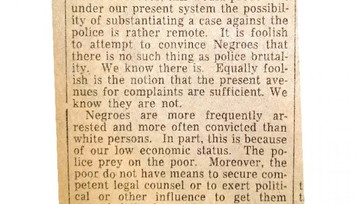 thumbnail of Bernard Moore Letter to Editor- For Review Board (Newark Evening News March 27, 1963)