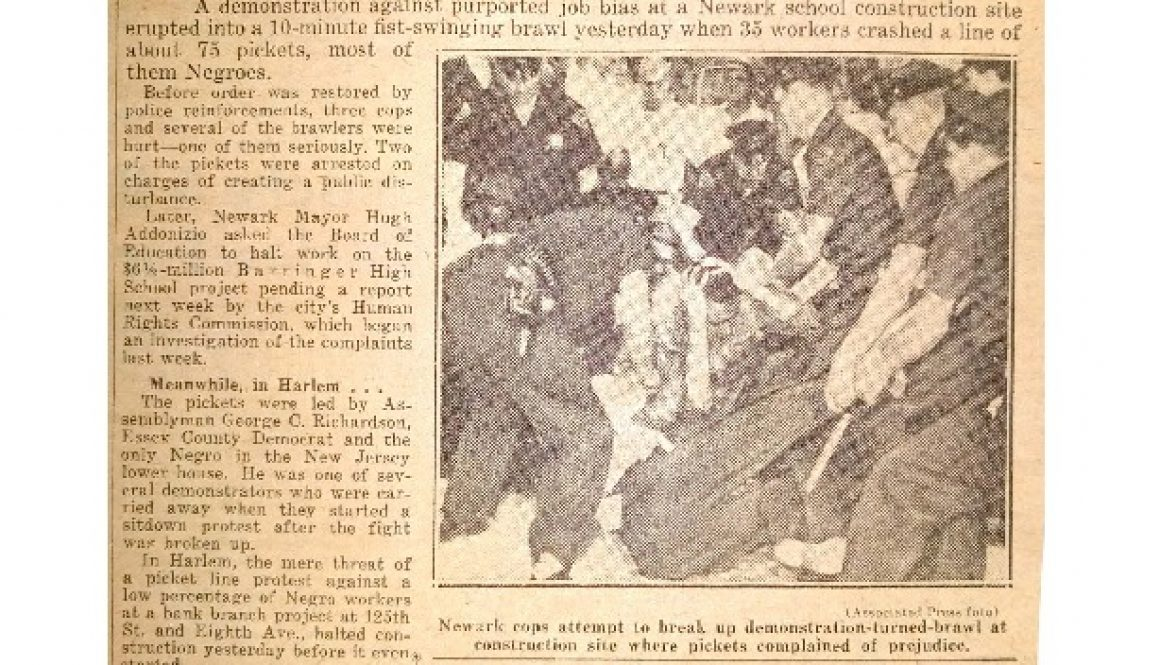 thumbnail of Brawl at School Picket Site (Daily News July 4, 1963)
