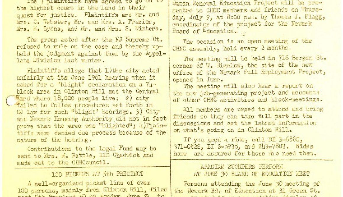 thumbnail of CHNC- Clinton Hill News (July 1964)