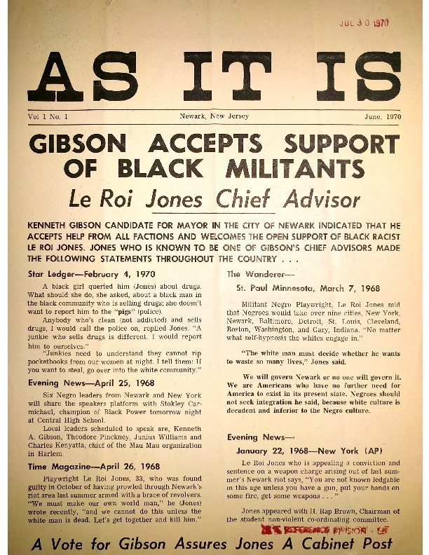 Gibson Accepts Support of Black Militants