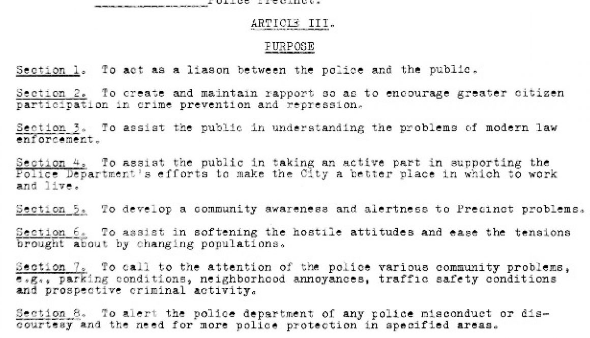 thumbnail of Constitution and By laws of Police Precinct Council