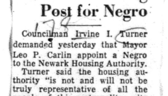 Demands Housing Post for Negro (March 8, 1955)