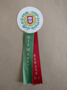 "Ribbon from the ""Dia De Portugal"" (Portugal Day), a longstanding tradition in Newark to celebrate the culture and heritage of the city's Portuguese community. -- Credit: Newark Public Library"