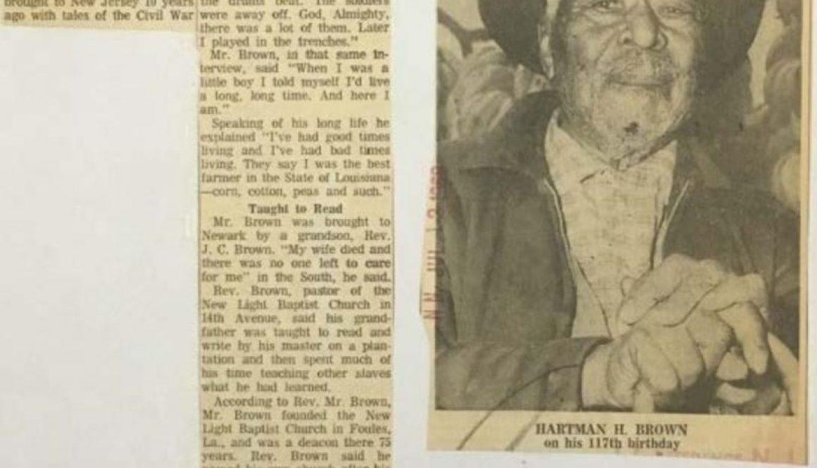thumbnail of Ex-Slave, 123, Dies in Newark