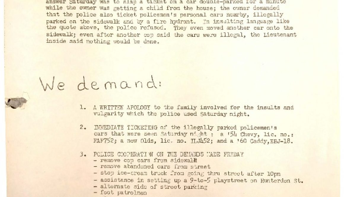 thumbnail of Flyer- Picket 5th Precinct (June 28, 1964)