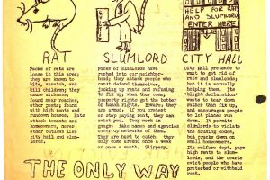 thumbnail of Flyer- Rats, Roaches, and Ridiculous Rents (NCUP, CHNC 1964)