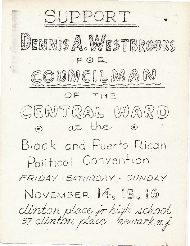 Flyer- Support Dennis A Westbrooks for Central Ward Councilman