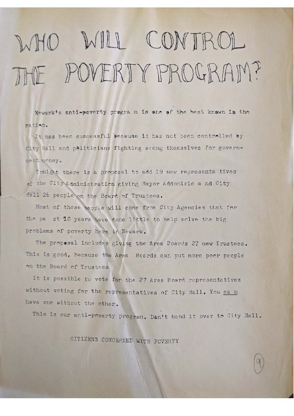 Who Will Control the Poverty Program?