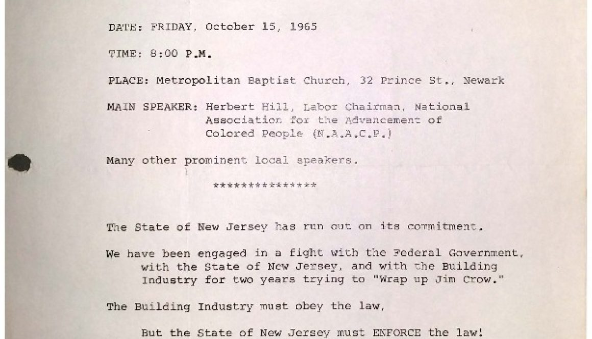 thumbnail of Flyer- Wrap Up Jim Crow Rally (NCC, NAACP Oct 15, 1965)