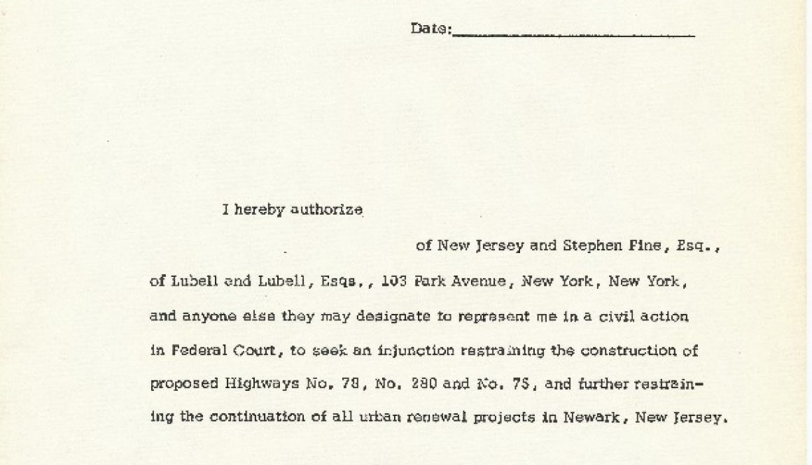 thumbnail of Form to Authorize Legal Representation in Fighting Urban Renewal