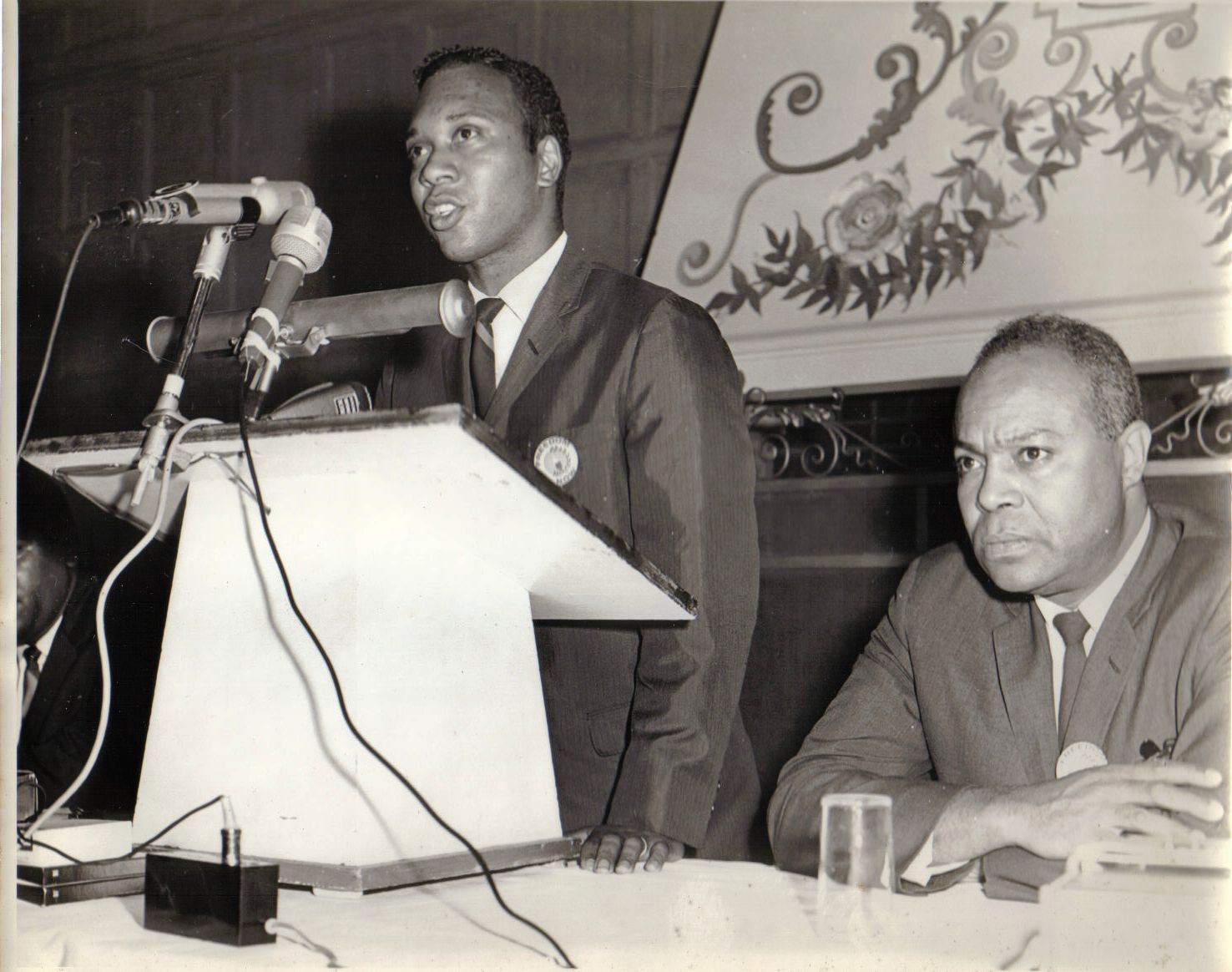 Fred Means and James Farmer at Press Conference