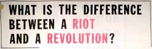 "Headline from a page within a Probe Magazine special edition, titled ""Riot or Black Revolution, A Special Guide for Brothers and Sisters Truly Interested in Freeing Their People."" -- Credit: New Jersey State Archives"