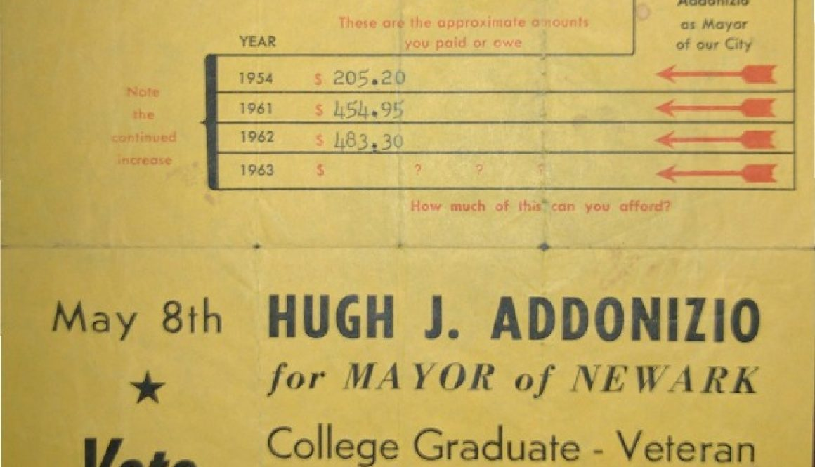 thumbnail of Hugh Addonizio Campaign Flyer (May 8, 1962) copy