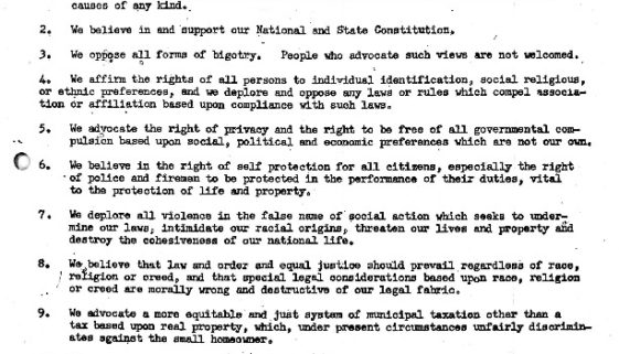thumbnail of Introduction and Principles of Loyal Americans for Law and Order- Sept 1967
