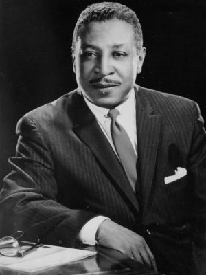 Portrait of Irvine I. Turner, Newark's first African American elected official, taken by photographer Al Henderson. -- Credit: Newark Public Library
