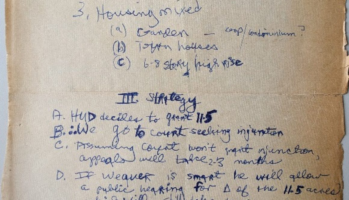 thumbnail of Junius Williams Notes from Meeting at Louise Epperson's House (Jan. 3, 1968)