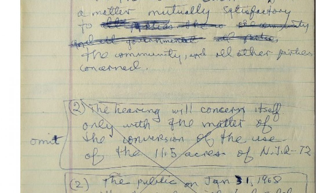 thumbnail of Junius Williams Notes on Demands to Gov. Hughes at Morven (Jan. 19, 1968)