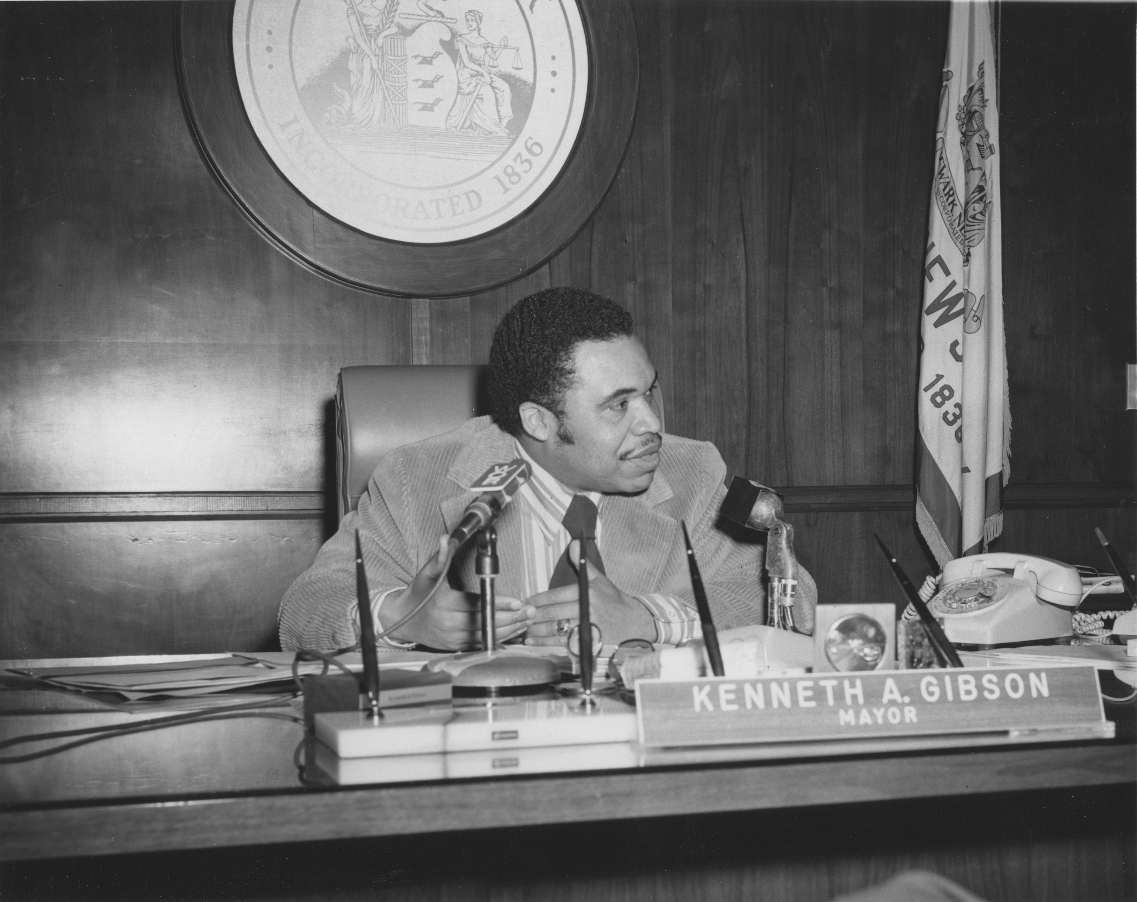 Ken Gibson in the Mayor's Office - The North | Newark