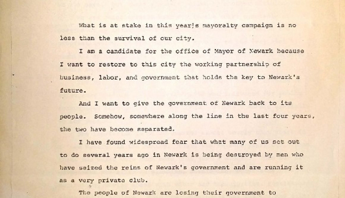 thumbnail of Leo Carlin Opening Campaign Statement (Feb 17, 1966)