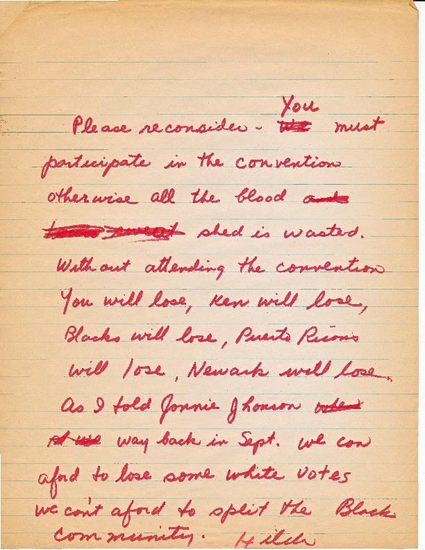Letter from Hilda Hidalgo Urging Participation