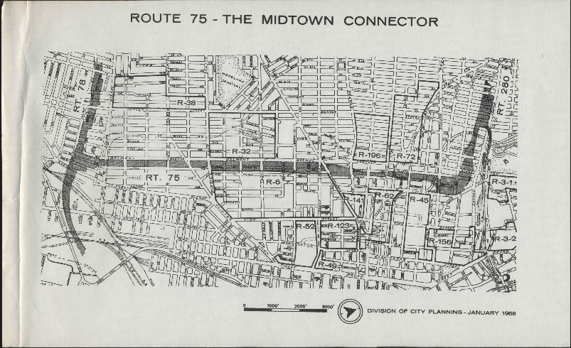 Map of Route 75: The Midtown Connector