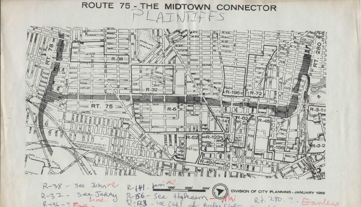 thumbnail of Map of Route 75- The Midtown Connector with Notes on Plaintiffs (January, 1968)-ilovepdf-compressed