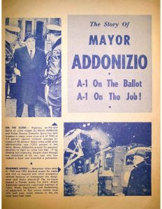 Campaign brochure for Mayor Addonizio's 1966 mayoral campaign in Newark. Addonizio ran as the incumbent in the campaign against former mayor Leo Carlin and political newcomer, Ken Gibson. -- Credit: Newark Public Library