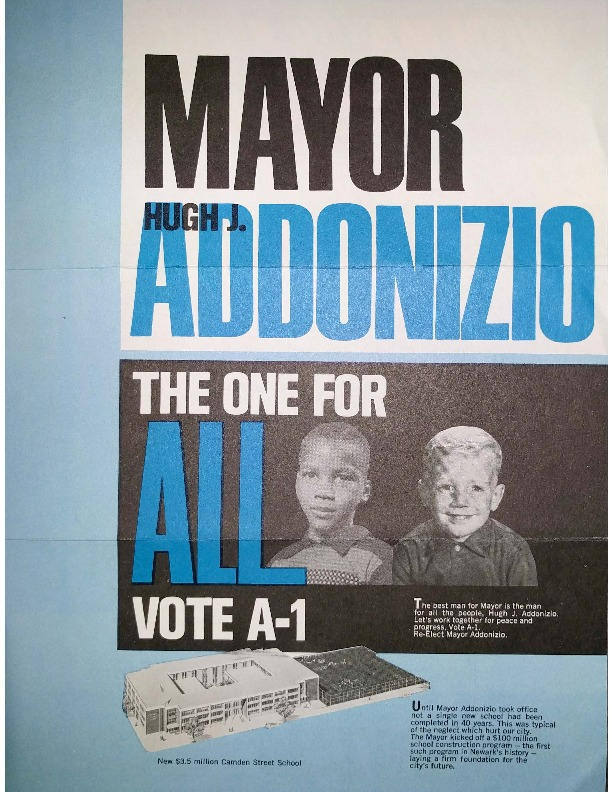 Mayor Addonizio Campaign Brochure