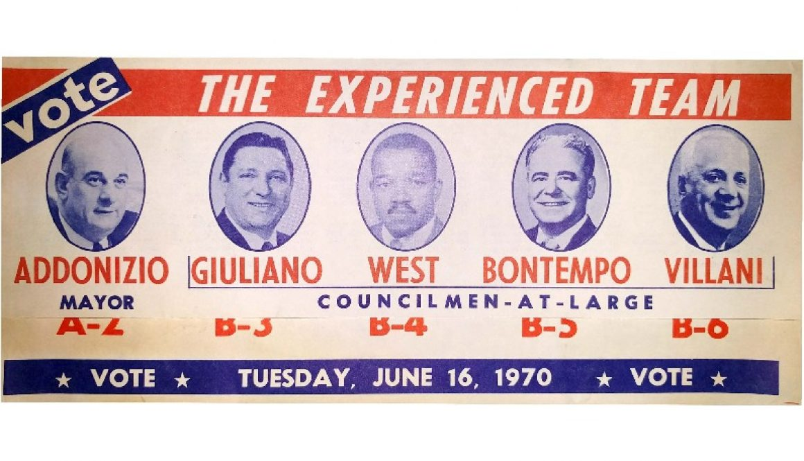 thumbnail of Mayor Addonizio Campaign Flyer (June 16, 1970)