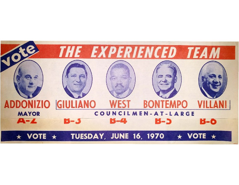 Mayor Addonizio Campaign Flyer