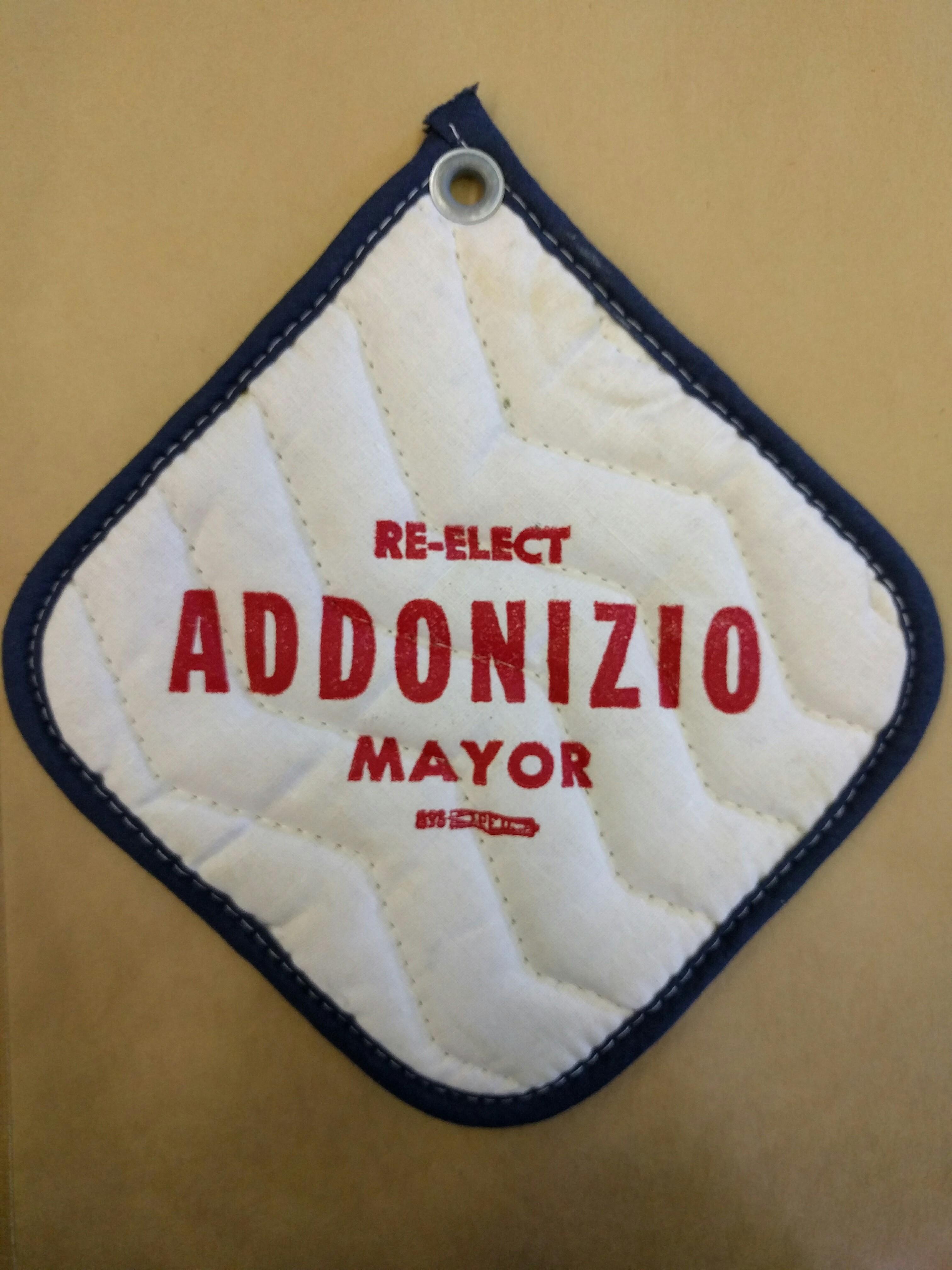 Mayor Addonizio Campaign Potholder