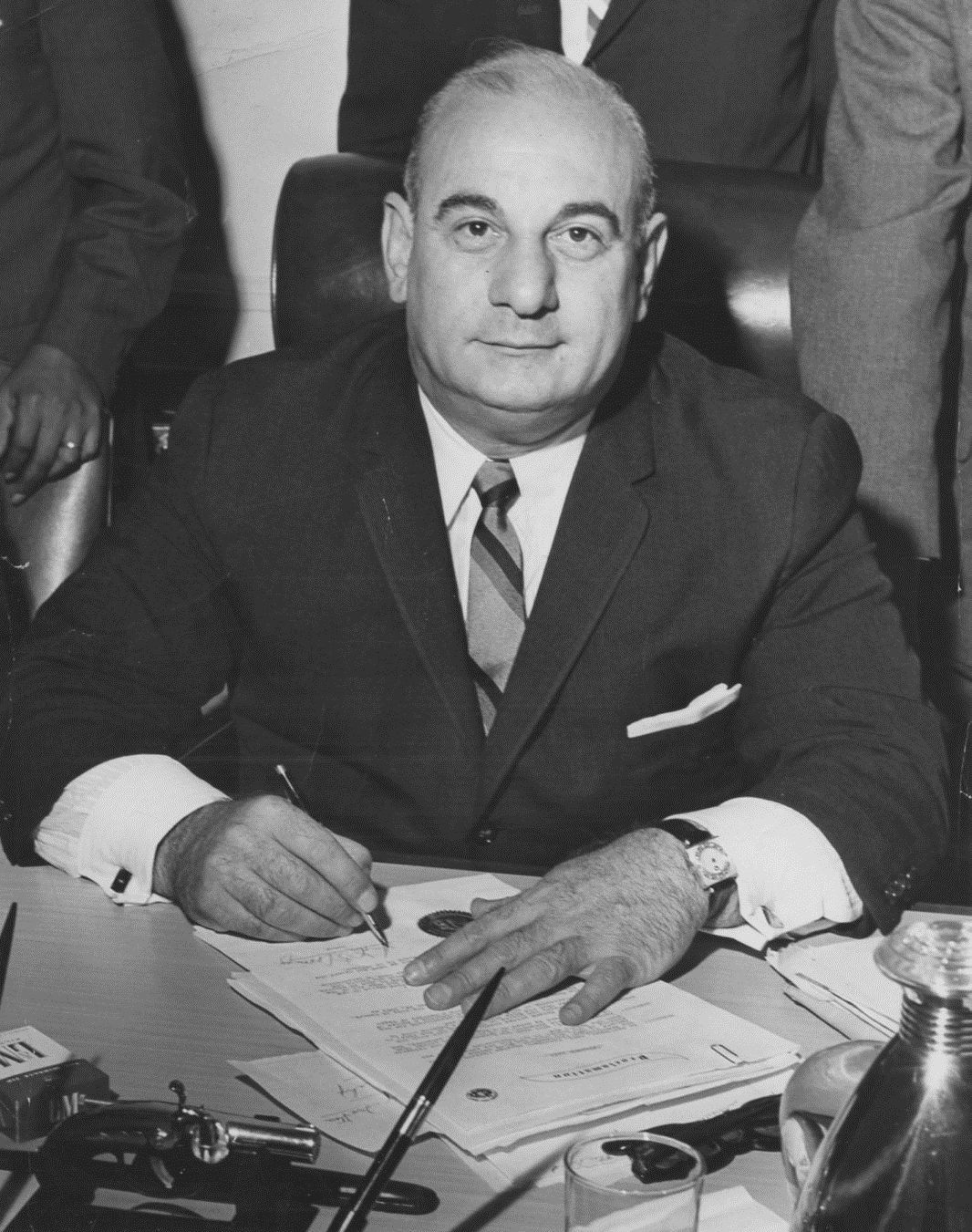 Mayor Addonizio at Desk