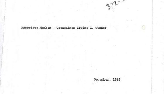 thumbnail of Minority Report of Councilman Irvine Turner, Member of the Council Committee to Study the Anti-Poverty Program for the City of Newark, NJ- Dec 1965-ilovepdf-compressed