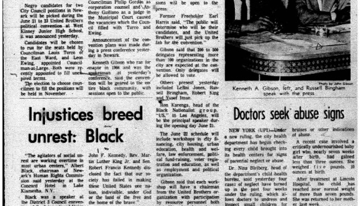 thumbnail of Parley to name Negroes as City Council candidates (Star-Ledger June 13, 1968)