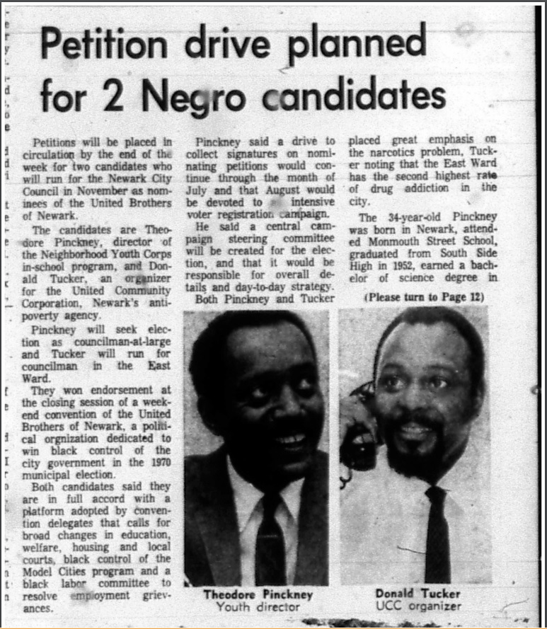 Petition Drive Planned For 2 Negro Candidates
