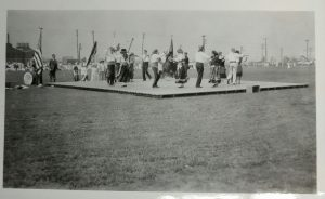 A group from Newark's Portuguese community dances in one of the city's parks in the early 1900s. -- Credit: Newark Public Library