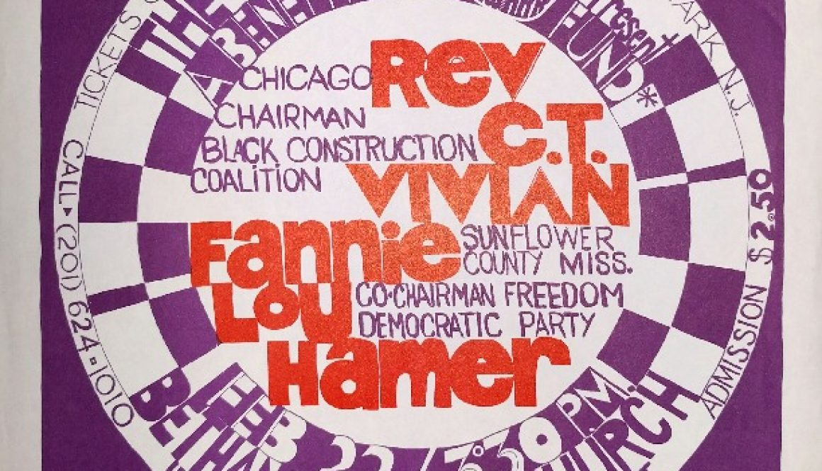 thumbnail of Poster- Benefit for the Newark Fund with CT Vivian and Fannie Lou Hamer (Feb 22, 1970)