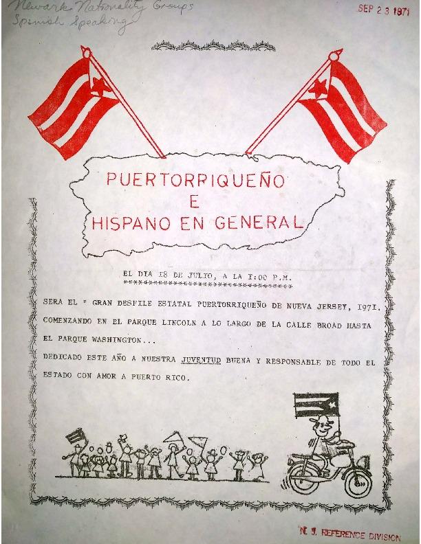 Puerto Rican Parade Flyer