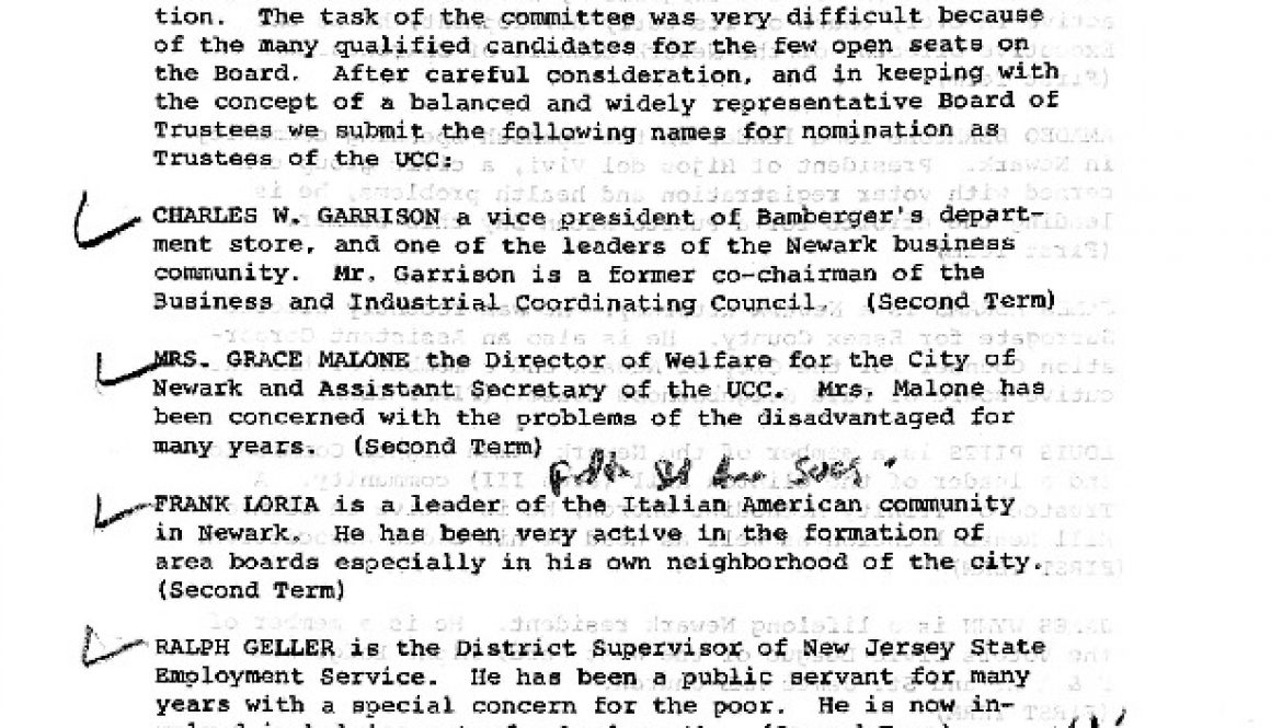thumbnail of Report of the UCC Nominating Committee (April 6, 1965)