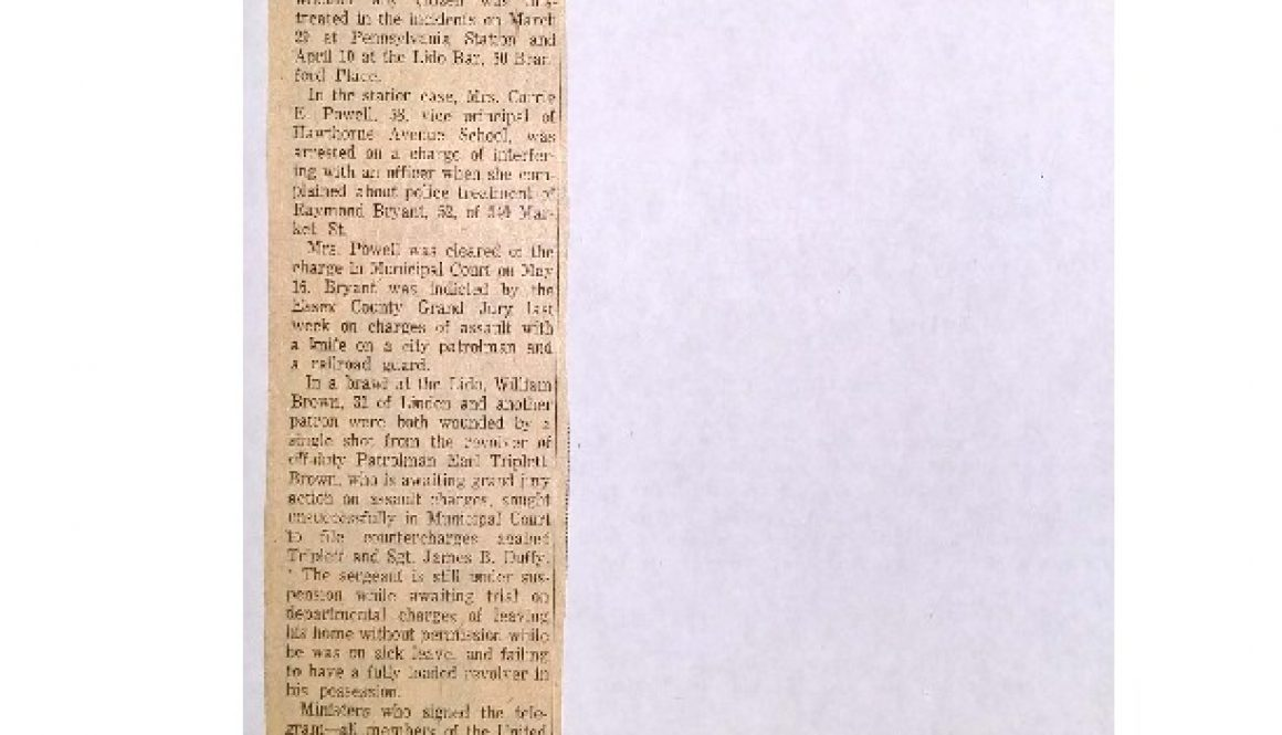 thumbnail of Request Inquiry in Police Action (May 28, 1963)