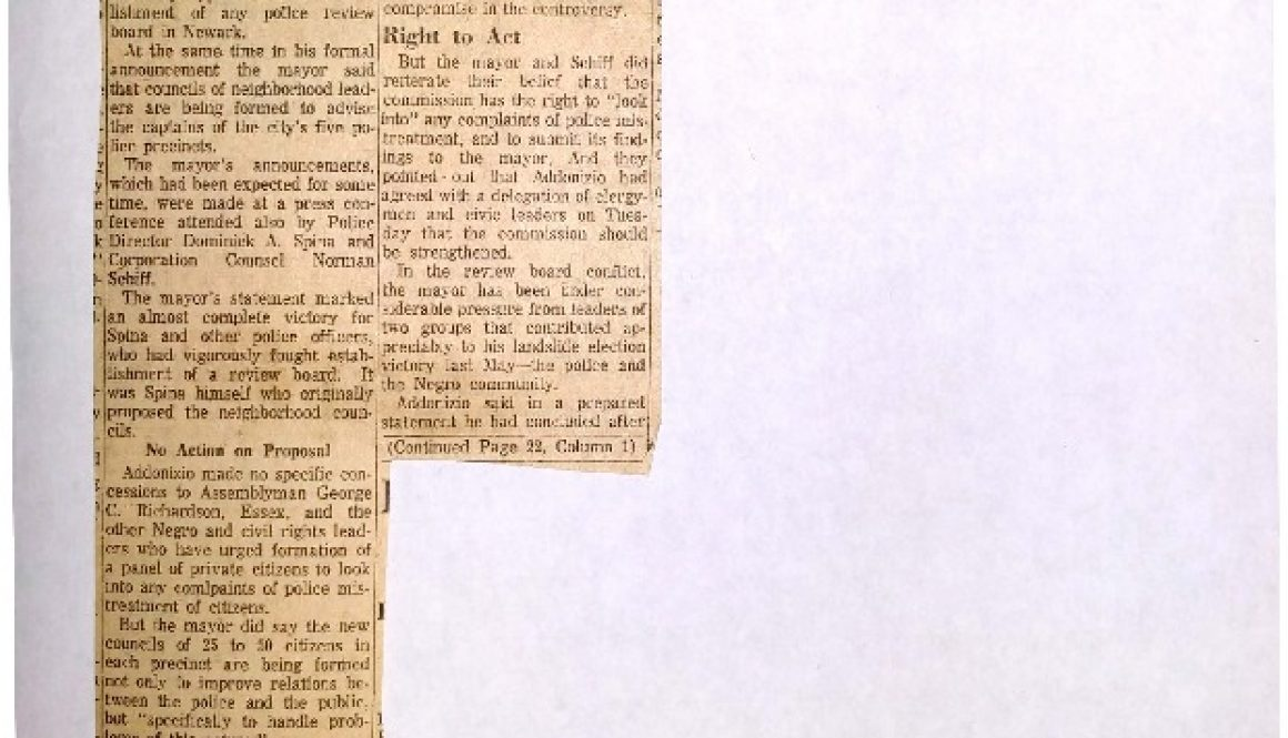 thumbnail of Review Board Out (Newark Sunday News April 7, 1963)
