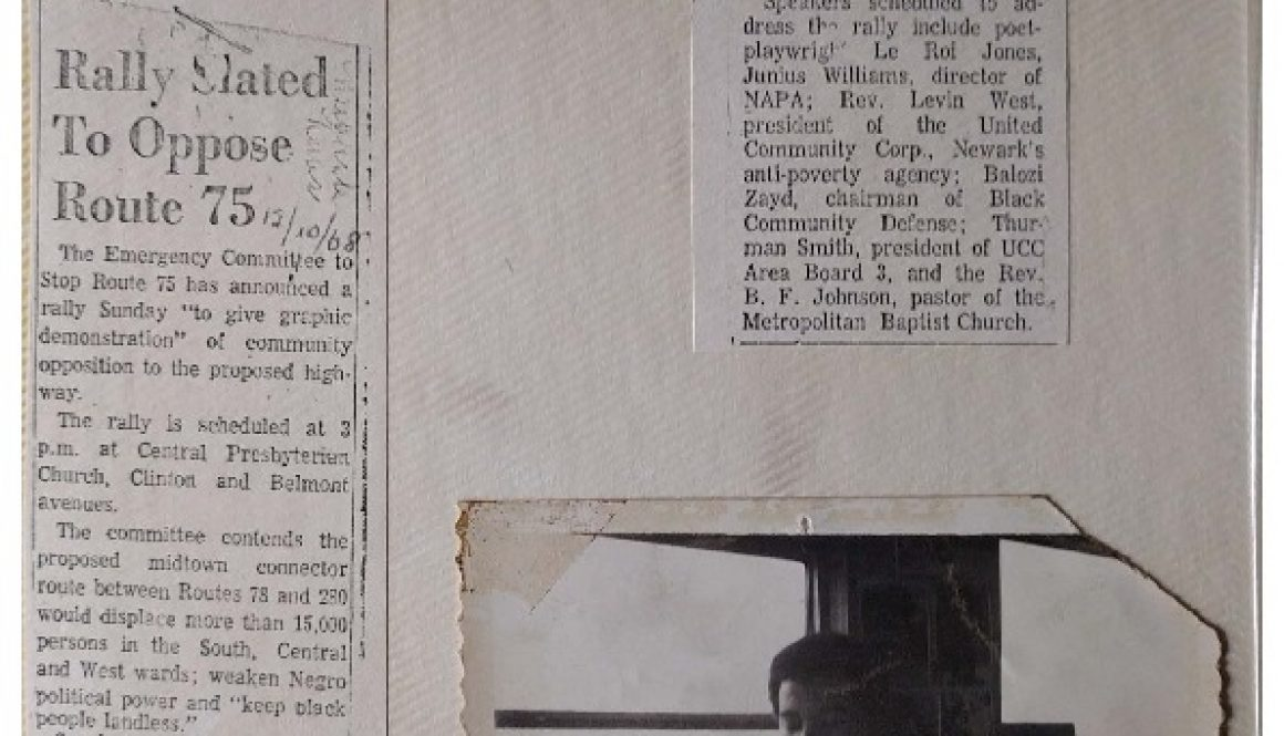 thumbnail of Route 75 Newsclippings and Photo of Junius Williams