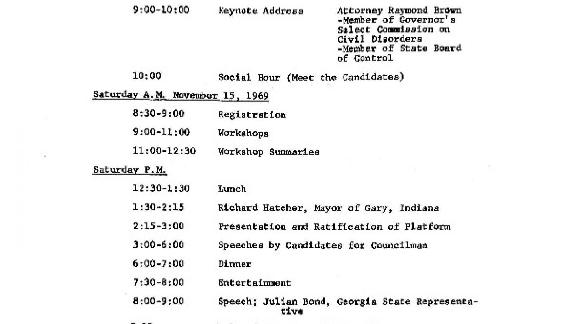 thumbnail of Schedule for the Black and Puerto Rican Political Convention