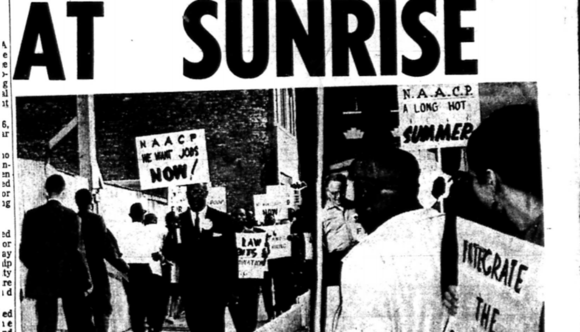 Pickets Stride at Sunrise (NJ Afro-American, May 30, 1964) copy