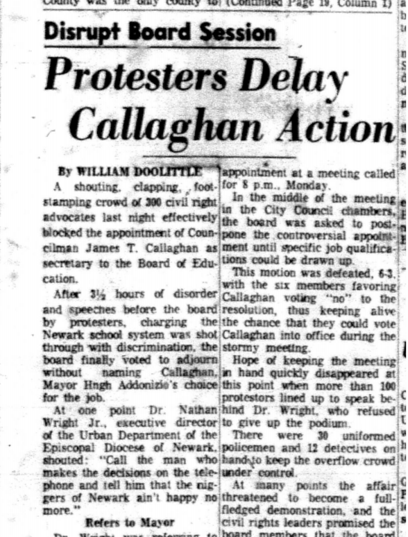 Protestors Delay Callaghan Action