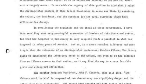 thumbnail of Statement by Governor Richard J Hughes to the Governor's Select Commission for the Study Civil Disorder in New Jersey (1)-ilovepdf-compressed