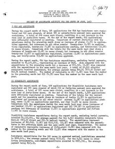 "Summary report from New Jersey's Division of Public Welfare on the state's assistance activities for the month of June, 1967. The report provides detailed information on the type and scope of welfare assistance provided, along with important statistics on ""length of time on assistance"" (p. 4) and ""amount expended on assistance per inhabitant"" (p. 5). -- Credit: New Jersey State Archives"