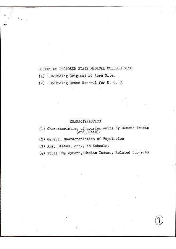 Survey of Proposed State Medical College Site
