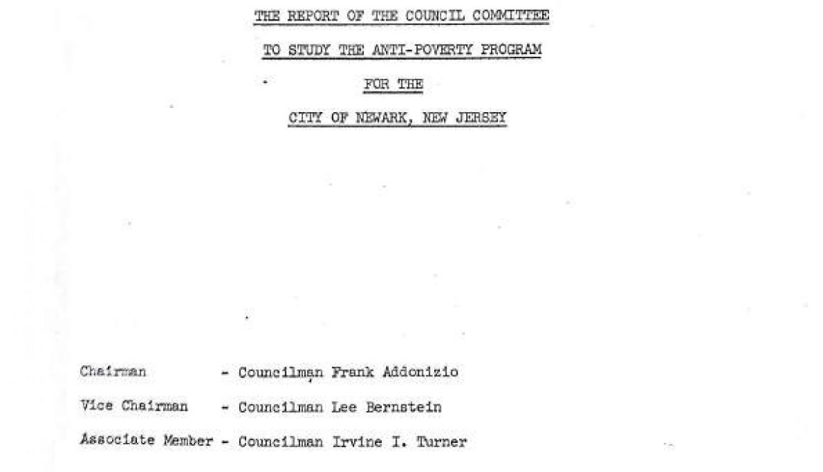thumbnail of The Report of the Council Committee to Study the Anti-Poverty Program for the City of Newark, NJ- Dec 1965-ilovepdf-compressed